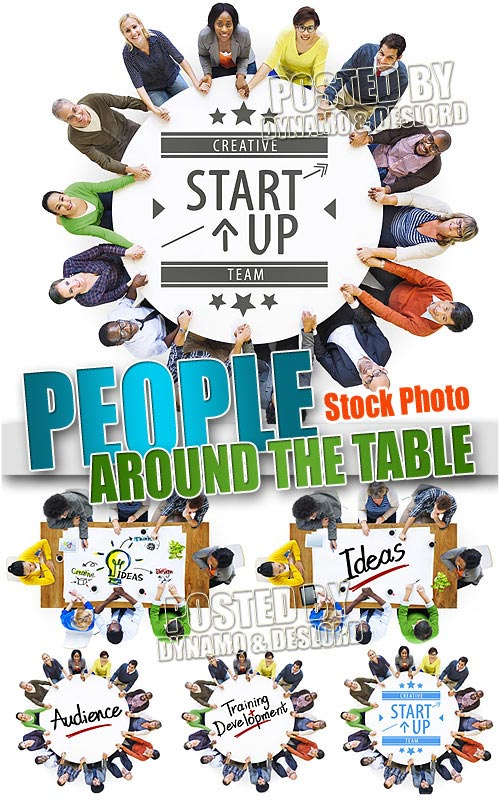 People around the table - UHQ Stock Photo