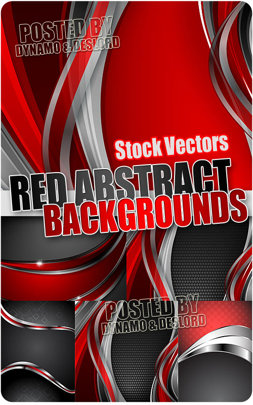 Red abstract backgrounds - Stock Vectors