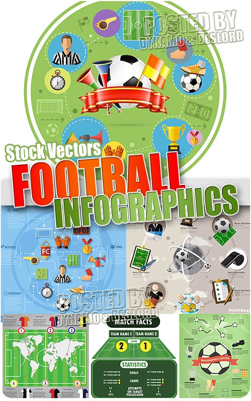 Football infographics - Stock Vectors