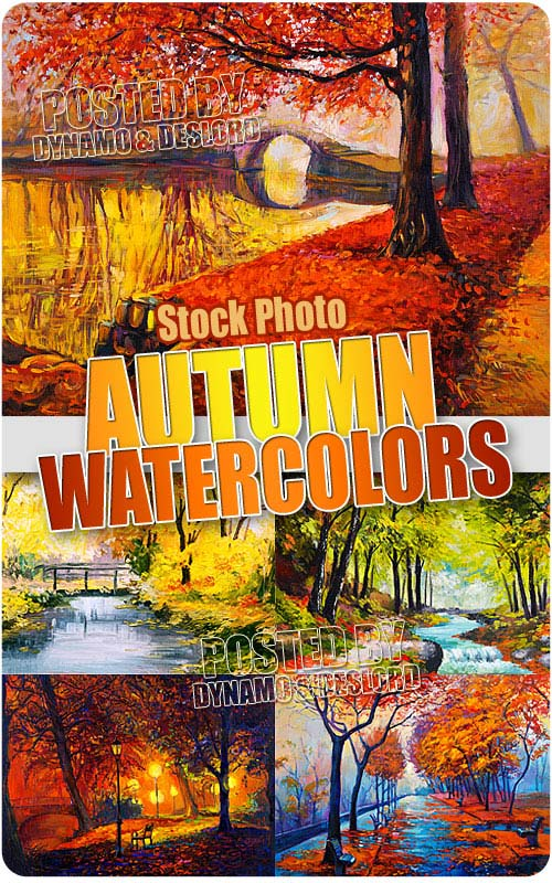 Autumn watercolors - UHQ Stock Photo