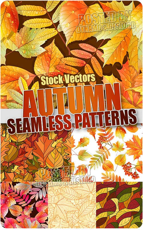 Autumn leaves seamless pattern - Stock Vectors