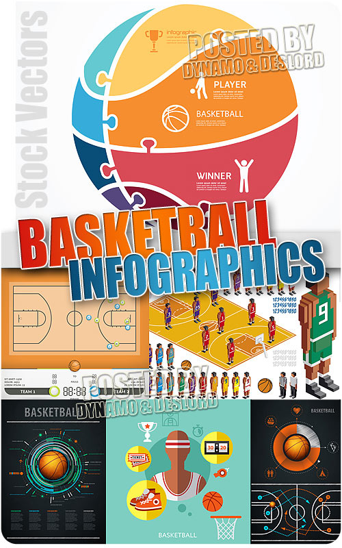 Basketball infographics - Stock Vectors