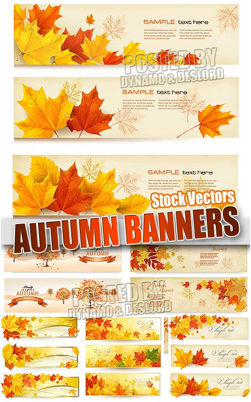 Autumn banners - Stock Vectors