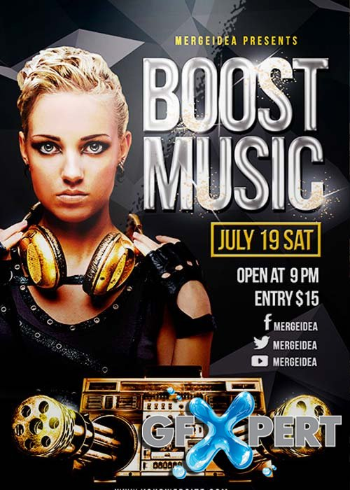 Boost Music Flyer