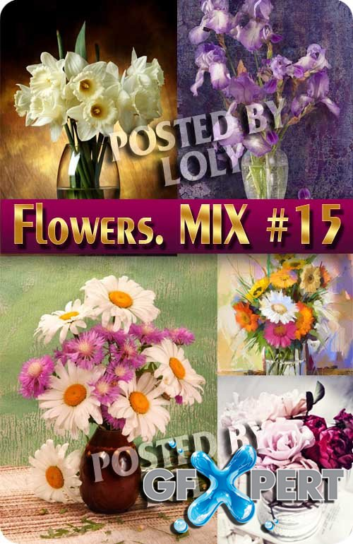 Flowers Mix #15 - Stock Photo