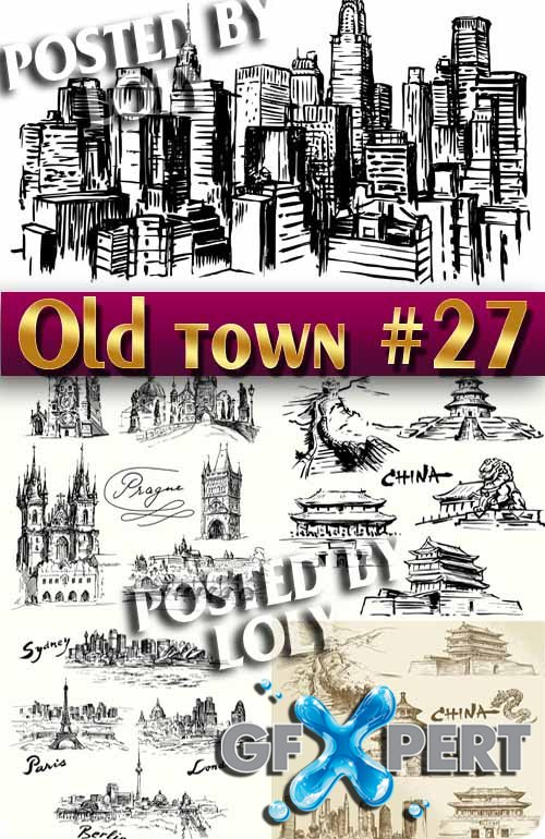Old Town #31 - Stock Vector