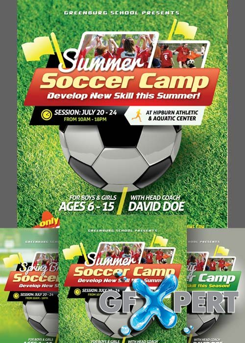 Free Soccer Camp Flyer Templates Download