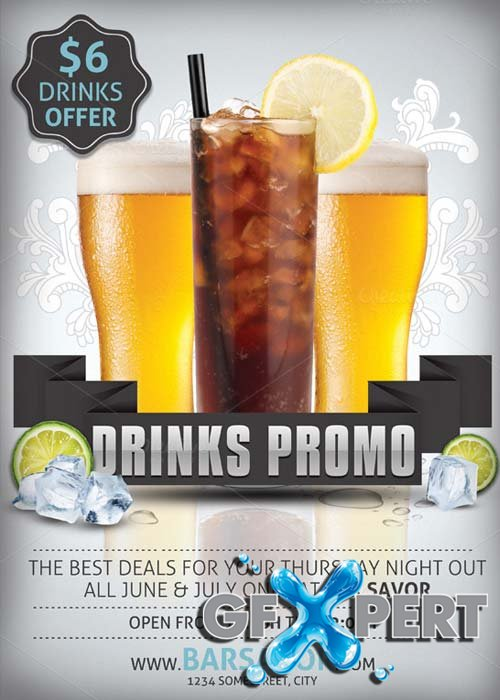 Free Drinks Promo Flyer Template Download