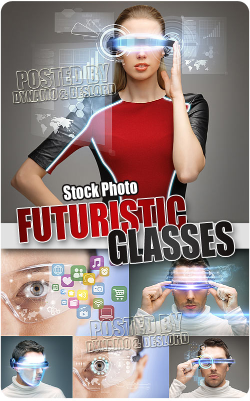 Futuristic glasses - UHQ Stock Photo