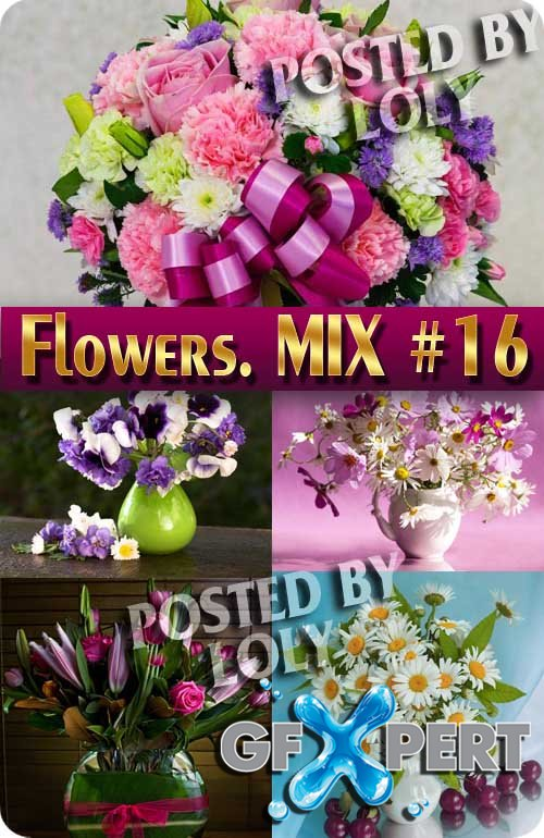 Flowers Mix #16 - Stock Photo