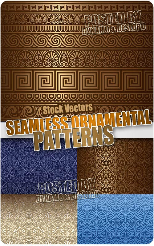 Seamless ornamental backgrounds - Stock Vectors