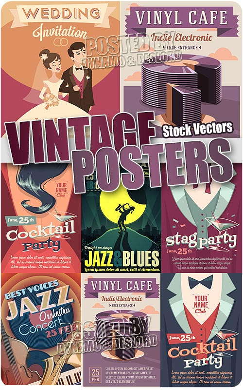 Vintage posters 2 - Stock Vectors