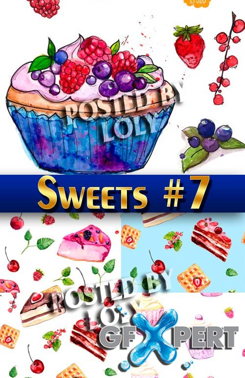 Sweets vector #7 - Stock Vector