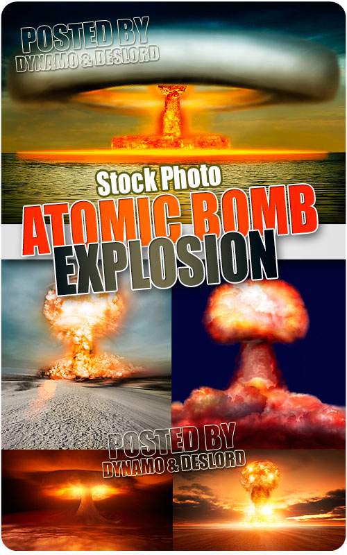 Atomic Bomb Explosion - UHQ Stock Photo