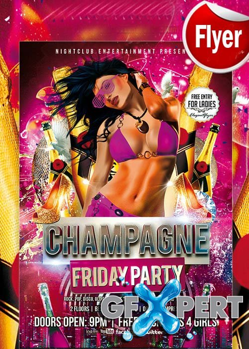 Shampagne Friday Party Flyer Template