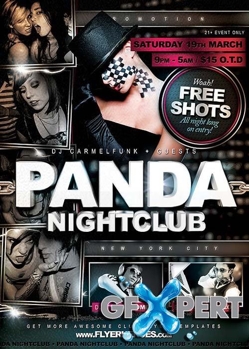 Free Panda Fresh Nightclub Flyer Template Download