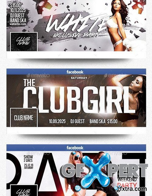 Graphicriver Facebook Timeline Cover Package Club Party Vol.3 13106173