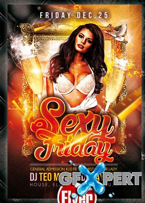 Sexy Friday  Flyer Template