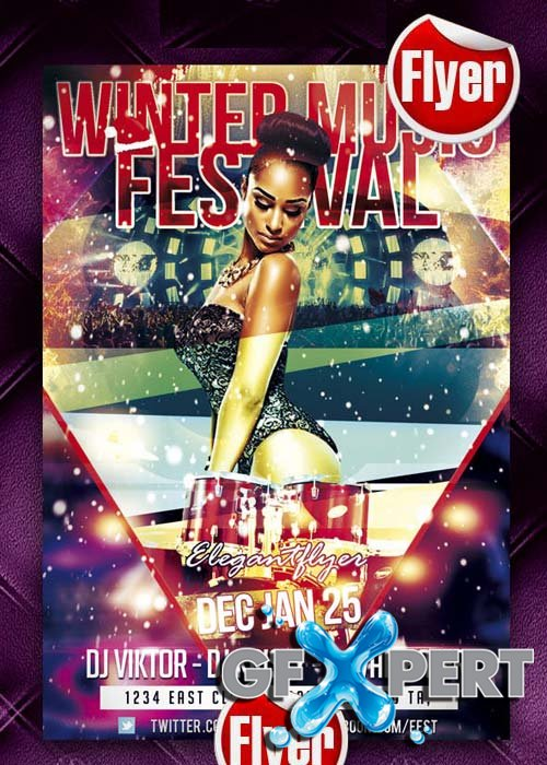 Winter Music Festival flyer Template