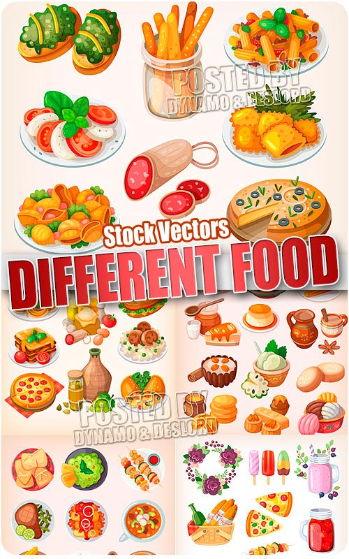 Different Food 2 - Stock Vectors