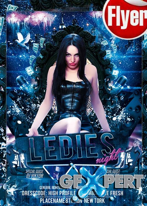 Ladies Night - Free Club and Party Flyer PSD Template
