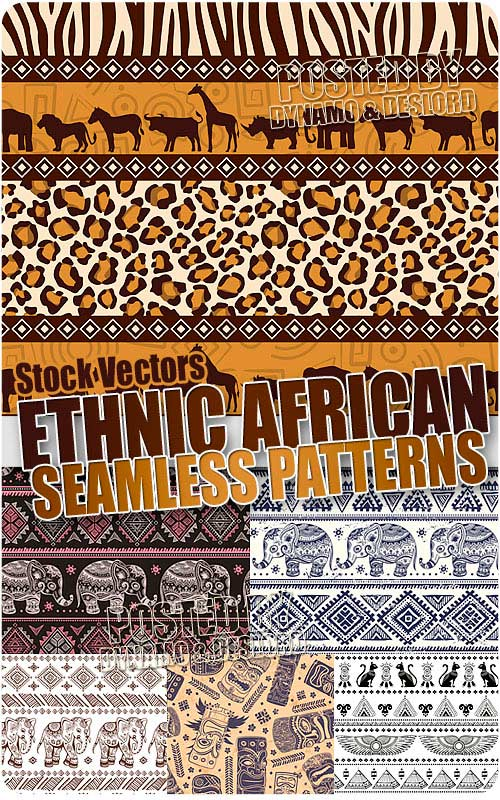Ethnic seamless pattern - Stock Vectors