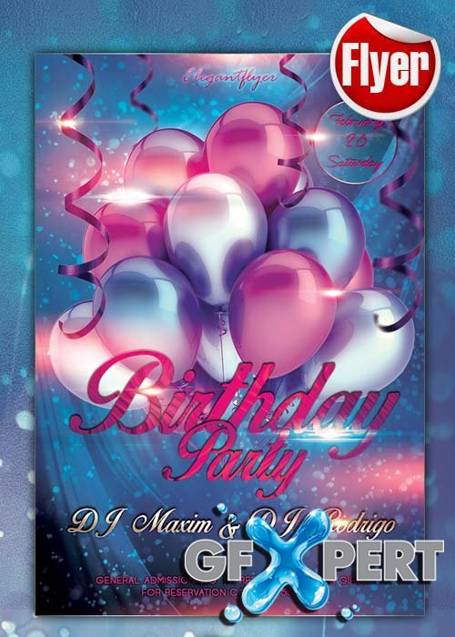 Birthday Party Flyer Template
