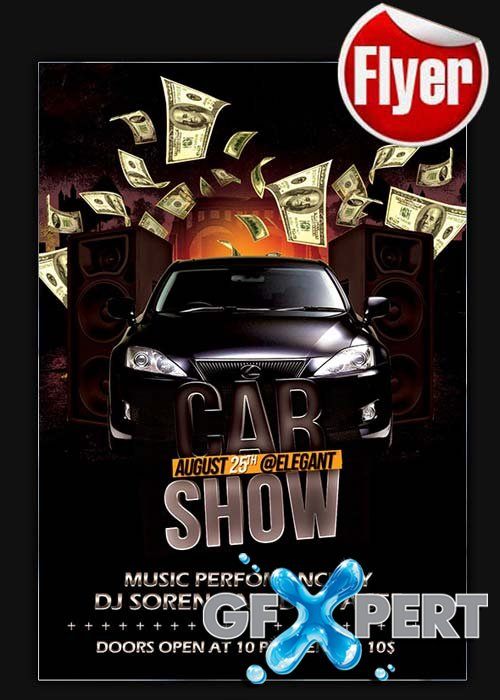 Car Show Flyer Template + Facebook Cover