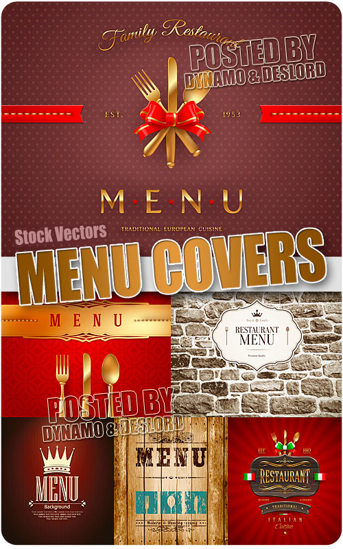 Menu cover - Stock Vectors