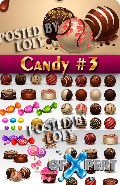Sweets and candies #3 - Stock Vector