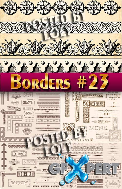 Vintage elements and borders #23 - Stock Vector