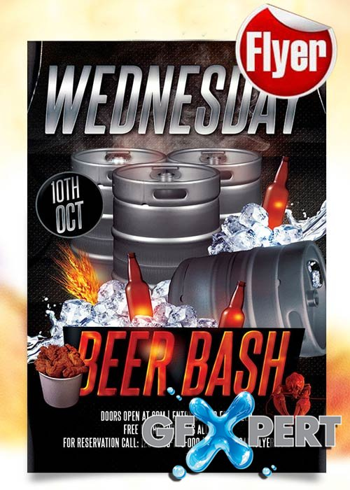 Beer Bash Flyer Template + Facebook Cover