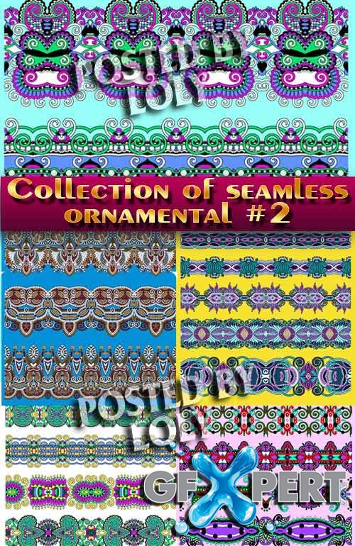 Collection of seamless ornaments #2 - Stock Vector