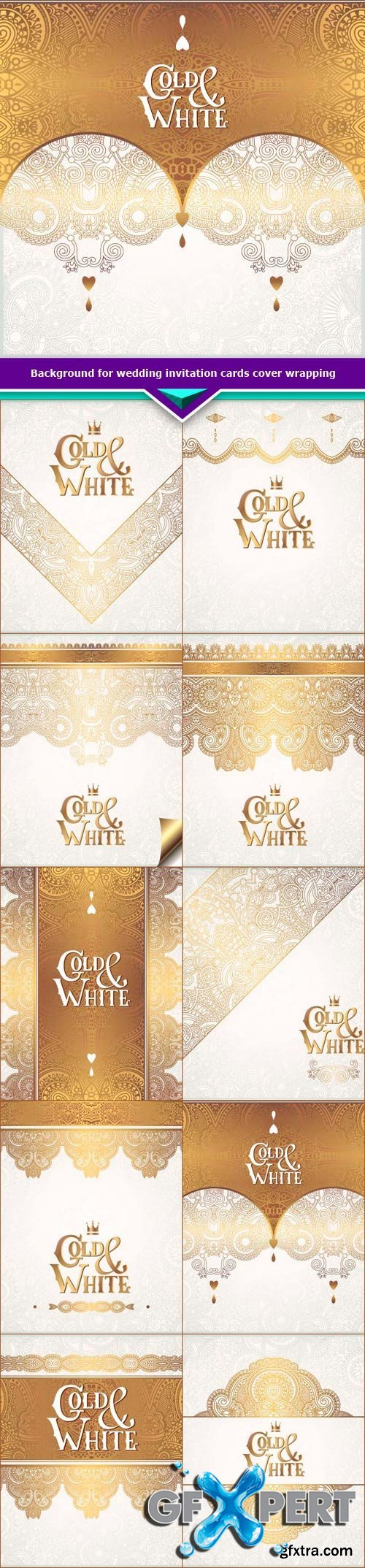 Background for wedding invitation cards cover wrapping 10x EPS