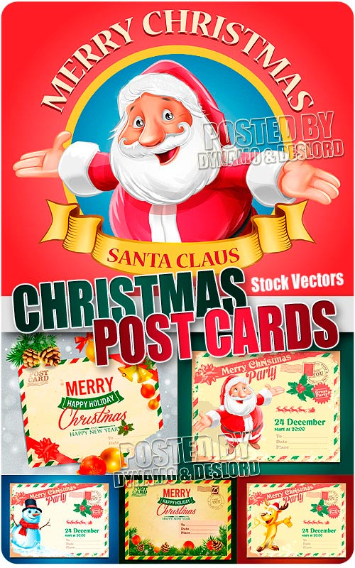 Christmas Post Cards 2 - Stock Vectors