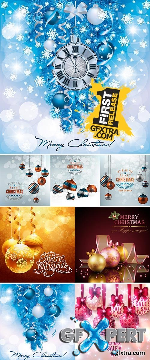 Stock Holiday background with christmas balls, Stock Illustration vector