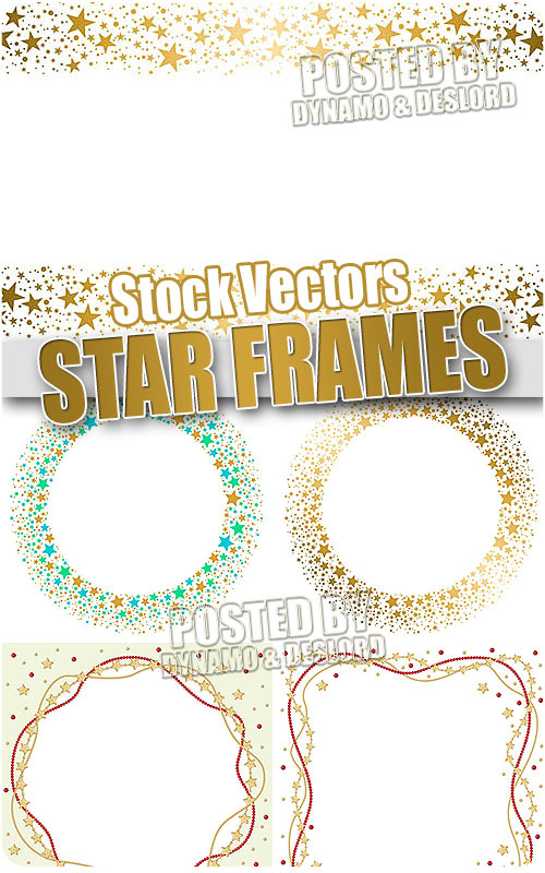 Star frames - Stock Vectors