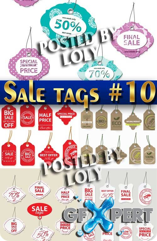 Sale tags #10 - Stock Vector