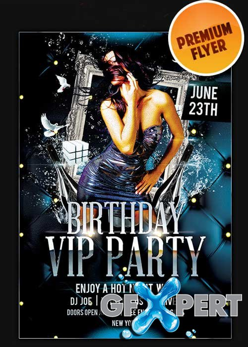 Birthday Bash Flyer Template + Facebook Cover
