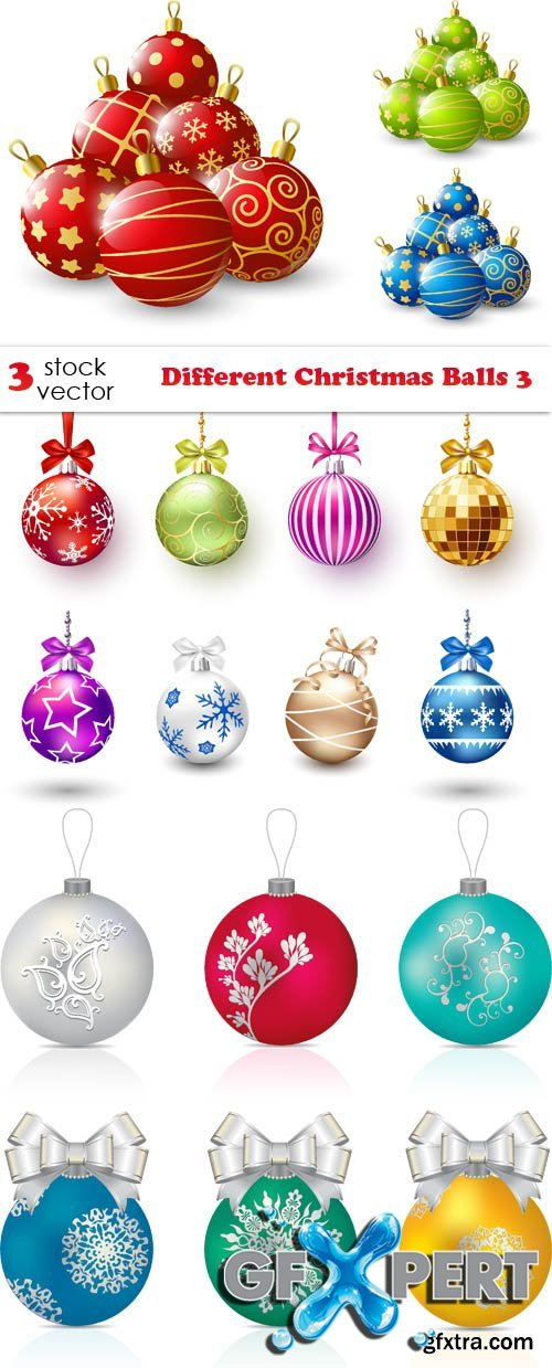 Vectors - Different Christmas Balls 3