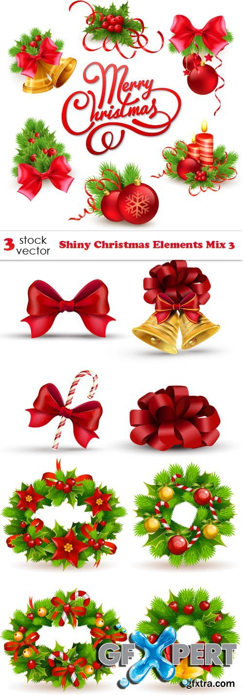 Vectors - Shiny Christmas Elements Mix 3