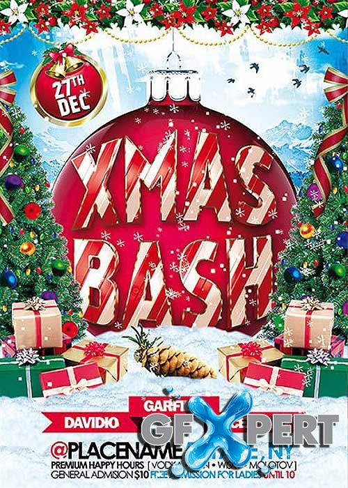 Xmas Bash Premium Flyer Template + Facebook Cover