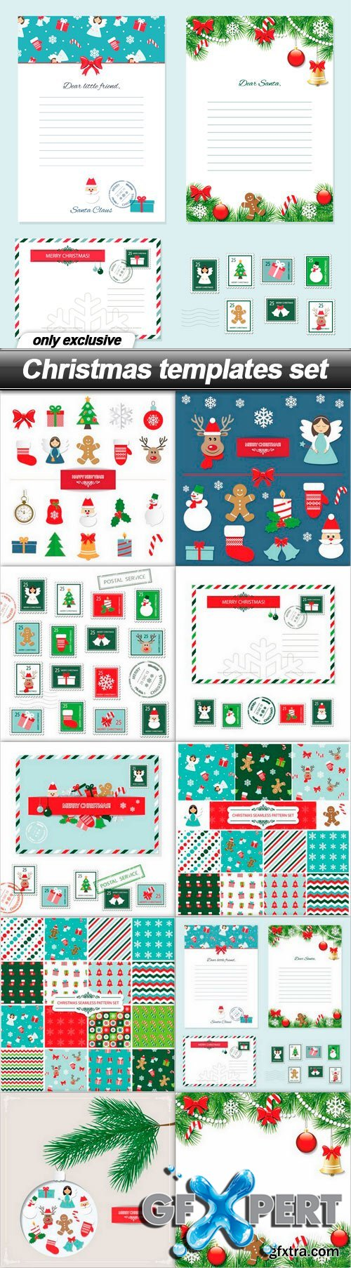 Christmas templates set - 10 EPS