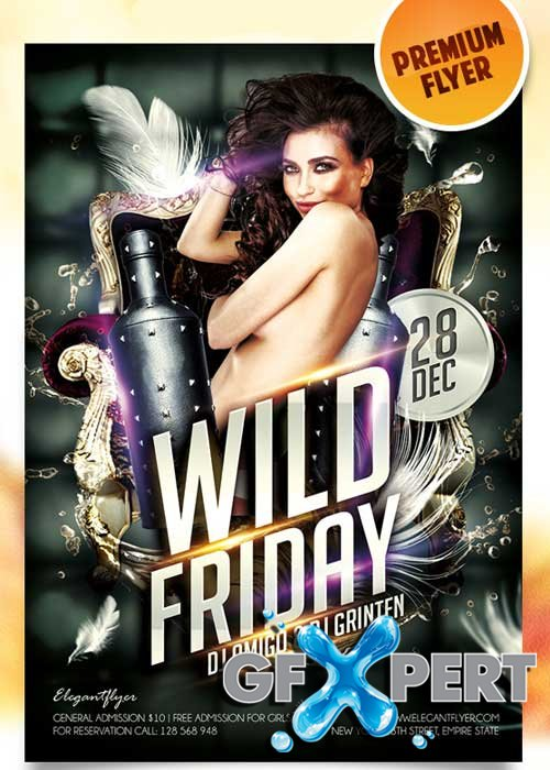 Wild Friday Flyer PSD Template + Facebook Cover