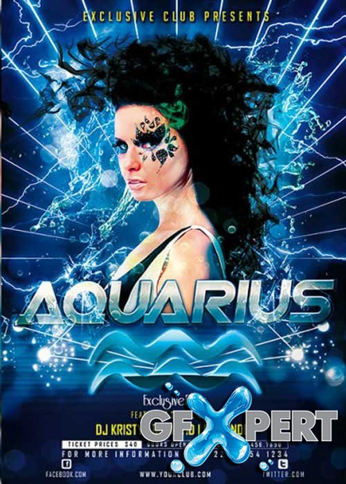 Aquarius Premium Flyer Template