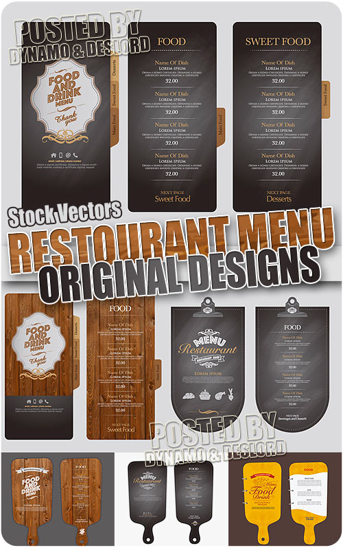 Restaurant menu design - Stock Vectors