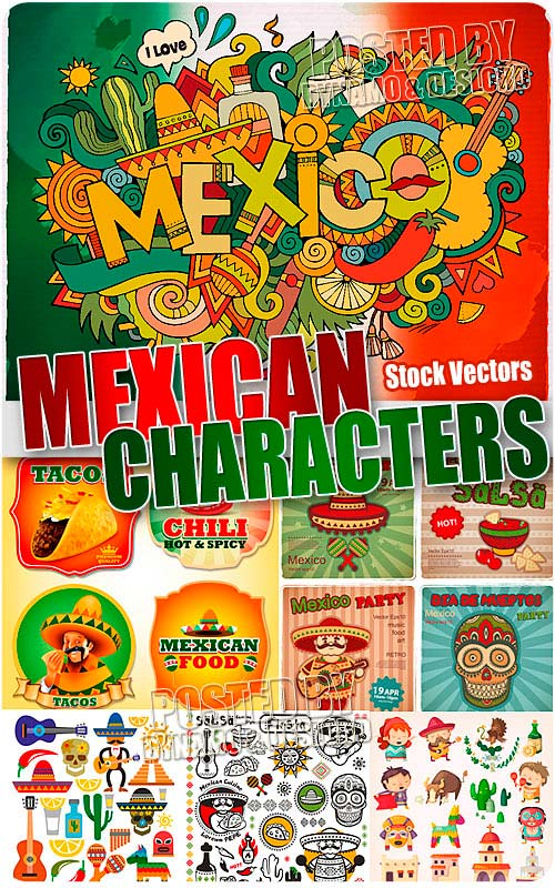 Mexican characters - Stock Vectors