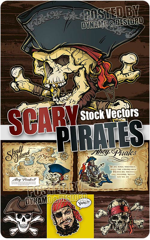 Scary pirates - Stock Vectors