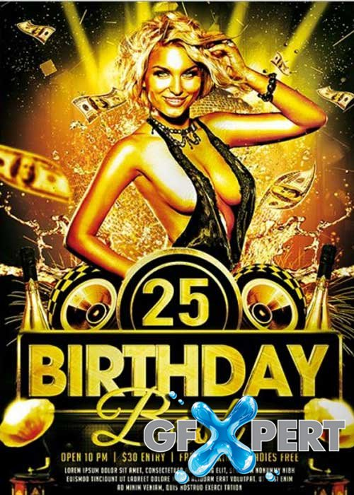 Free Birthday Bash Premium Flyer Template Download