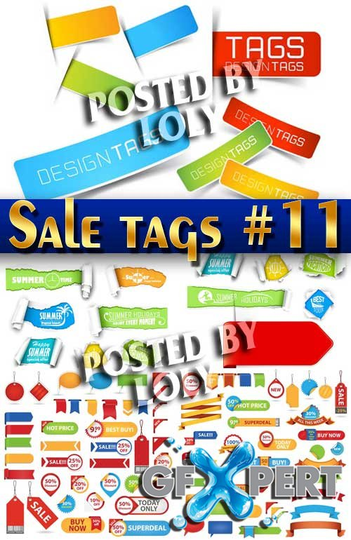 Sale tags #11 - Stock Vector